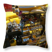 Chevy Motor - Side View Throw Pillow