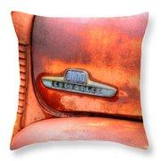 Chevy Truck Emblem Throw Pillow