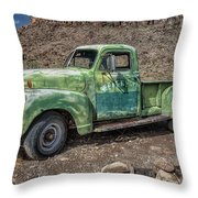 Chevy Truck Route 66 Throw Pillow
