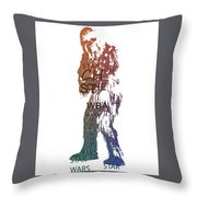Chewbacca Typography Throw Pillow