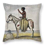 Cheyenne Warrior, 1845 Throw Pillow