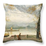 Cheyne Walk Throw Pillow