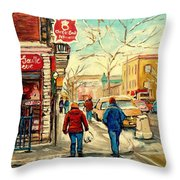Chez De Gaulle Patisserie Deli Throw Pillow