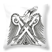 Chi Eagle Throw Pillow