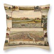 Chicago 1779-1857 Throw Pillow