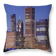 Chicago 2018 Blue Hour Throw Pillow