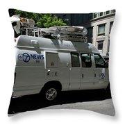 Chicago Abc 7 News Truck Throw Pillow