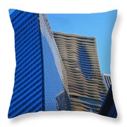 Chicago Abstract 1 Throw Pillow