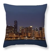 Chicago After Dusk Throw Pillow
