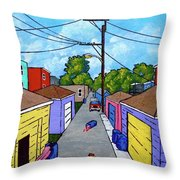 Chicago Alley Throw Pillow