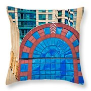 Chicago Place On N. Michigan Ave Throw Pillow