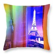 Chicago Art Institute Miniature Paris Room Pa Prismatic 08 Vertical Throw Pillow