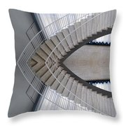 Chicago Art Institute Staircase Mirror Image 01 Throw Pillow