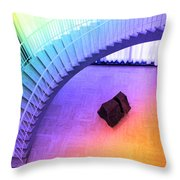 Chicago Art Institute Staircase Pa Prismatic Throw Pillow