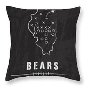 Chicago Bears Art - Nfl Football Wall Print Throw Pillow by Damon Gray