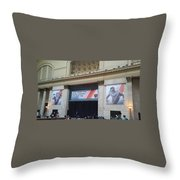Chicago Bears Union Station Throw Pillow
