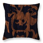 Chicago Bears Wood Fence Throw Pillow
