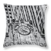 Chicago Board Of Trade Bw Throw Pillow