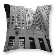Chicago Board Of Trade Throw Pillow