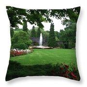 Chicago Botanical Gardens Landscape Throw Pillow