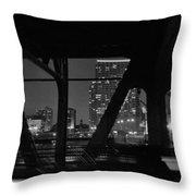 Chicago Bridge Night Throw Pillow