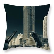 Chicago Bridges-2 Throw Pillow