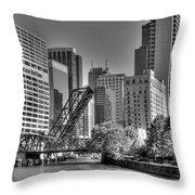 Chicago Bridges Throw Pillow