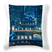 Chicago Bridges Poster Throw Pillow