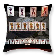 Chicago Bulls Banners Collage Throw Pillow