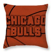 Chicago Bulls Leather Art Throw Pillow