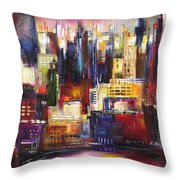 Chicago City View Throw Pillow