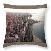 Chicago Coastline Throw Pillow