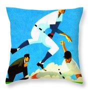 Chicago Cubs 1970 Program Throw Pillow