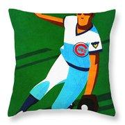 Chicago Cubs 1972 Official Program Throw Pillow