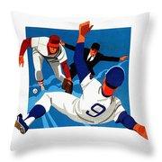 Chicago Cubs 1974 Program Throw Pillow