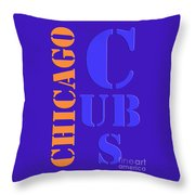 Chicago Cubs Baseball Team Vintage Original Typpography Throw Pillow