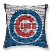 Chicago Cubs Brick Wall Throw Pillow