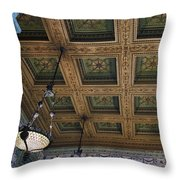 Chicago Cultural Center Staircase Ceiling Throw Pillow