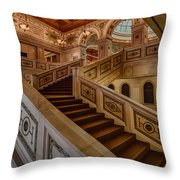 Chicago Cultural Center Stairs Throw Pillow