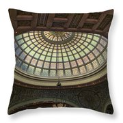 Chicago Cultural Center Tiffany Dome 01 Throw Pillow