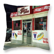 Chicago Dogs Throw Pillow