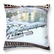 Chicago Downtown City  Throw Pillow
