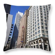 Chicago Downtown Throw Pillow