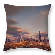Chicago Dusk Throw Pillow