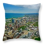 Chicago East View Throw Pillow