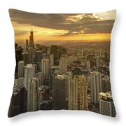Chicago Evenings 2 Throw Pillow