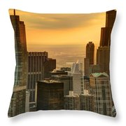 Chicago Evenings Throw Pillow