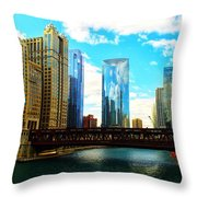 Chicago Fall Throw Pillow
