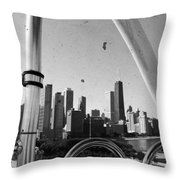 Chicago Ferris Wheel Skyline Throw Pillow
