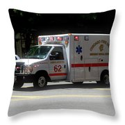 Chicago Fire Department Ems Ambulance 62 Throw Pillow